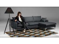 Made Com Mendini Corner Sofa Anthracite Grey Great Condition Like New