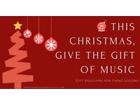 GIFT VOUCHERS for Piano Lessons (online lessons available)