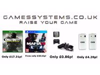 Save up to 50% on Xbox One PS4 Wii U Xbox 360 PS3 PC Playstation 2 items & Orb Accessories!