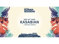 2 x Kasabian tickets. Edinburgh Summer Sessions Saturday 18th August