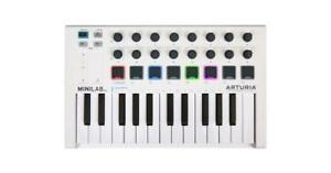 25-note USB Mini Keyboard Arturia MinilabMKII 16 Encoders, 2 Banks of 8 Pads, Pitch/Mod Touch Strips, and 500 Sounds -
