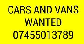ALL CARS AND VANS WANTED . Kent
