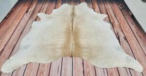 Cowhide Rug Beige, Champagne and white Brazilian Cow Hide Rugs 77 X 77 Inches Free Shipping Canada Wide 1499