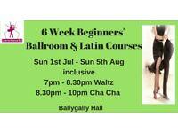 Beginners Ballroom & Latin Dancing- 6 WK Course from Sun 1st July 2018
