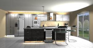 KITCHEN CABINETS - BATH VANITY -TV WALL UNITS - CUSTOM MADE KITCHENS- 10x10 cabinets supply only starting from $2,999.99