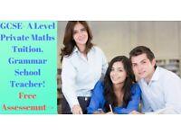 Grammar School Teacher Maths Tutor Croydon 11 plus tutor Croydon GCSE A Level Maths Croydon