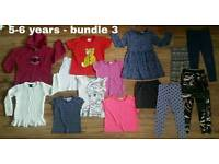 Girls clothes bundles - size 5-6 years