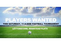 Players needed for friendly 11 a side football tournament. 26th Aug, Wanstead Flats, Leytonstone