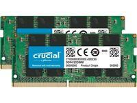 Crucial CT2K16G4SFD8266 32 GB Kit (16 GB x 2 - DDR4, 2666 MT/s, PC4-21300, SODIMM, 260-Pin
