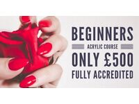 Professional Acrylic Beginners Course with award winning nail artist chesterfield