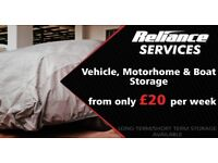Vehicle, Motor home, Boat car and caravan storage. Trailer hire also available