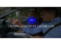Driving Lessons 1st 3 hours just £30.00