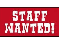 Staff wanted Friday lunchtime