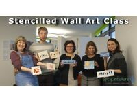 Stencilled Wall Art Class by Upcycled World, 28 July 2018, 15:30-17:30