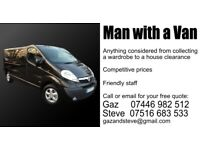 MAN WITH A VAN DERBY/NOTTS COMPETITIVE RATES