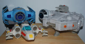 Star Wars Galactic Heroes - Millenium Falcon, Tie Fighter and X Wing Fighter