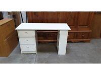 Malibu 3 Drawer Office Desk - White No160406