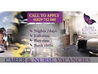 Health Care Assistant / Care Worker - NIGHTS & DAYS