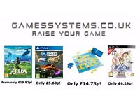 Save up to 50% on Xbox One PS4 Switch Wii U Xbox 360 PS3 Wii 3DS PC Toys & Playstation items!