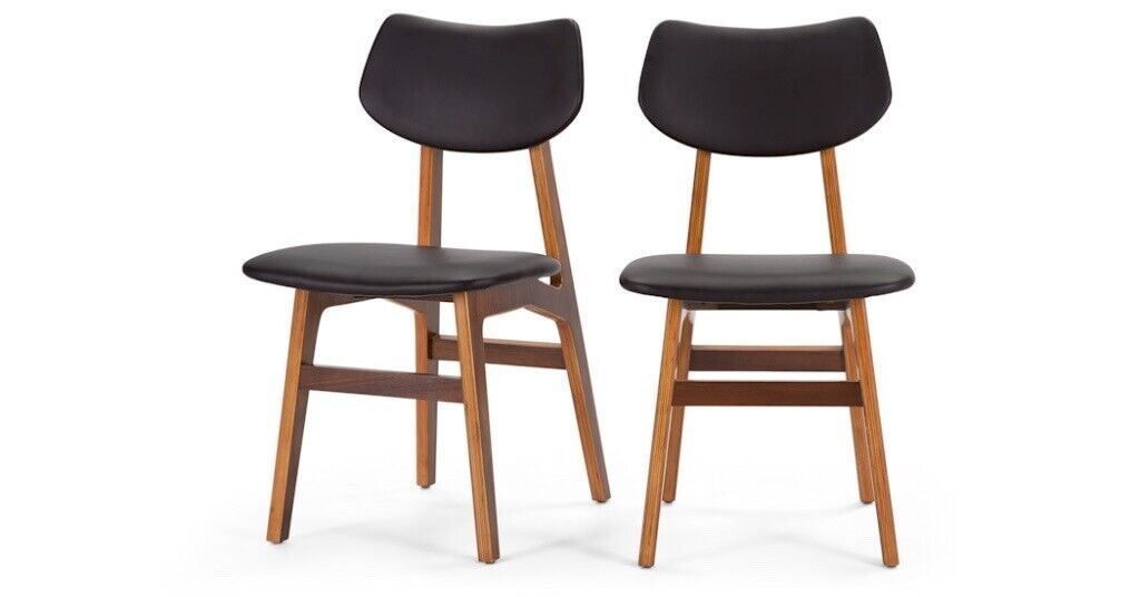 Incredible New Made Set Of 4 Jacob Dining Chairs Coal Black And Walnut Rrp 398 In Stanley County Durham Gumtree Creativecarmelina Interior Chair Design Creativecarmelinacom