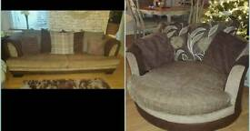 4 seater and large cuddle chair