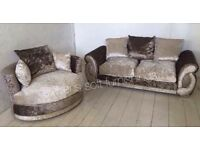 Stunning hand made sofa 3 seater + swivel love chair