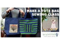 Make a Tote Bag Sewing Class by Upcycled World; 07 June 2018; 10:00-13:00