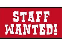Takeaway staff wanted