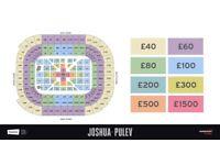 world championship boxing tickets for Anthony Joshua vs Kubrat Pulev