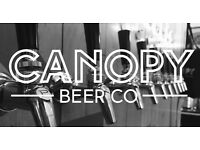 Canopy Beer Co Tap Room - Bar Staff needed