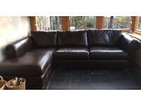 Beautiful Leather Corner Sofa RRp3000