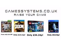 Save up to 50% on Xbox One PS4 Switch Wii U Xbox 360 PS3 Wii 3DS PS Vita PC & Toys items!