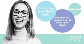 LIVE-IN CARERS NEEDED NATIONWIDE UP TO £665 A WEEK - Flexible Rotas