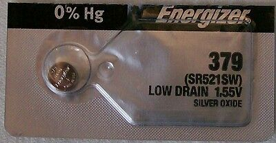 Energizer Watch Battery 379 replaces SR521SW,  V379, Type `JA` & AWI S56