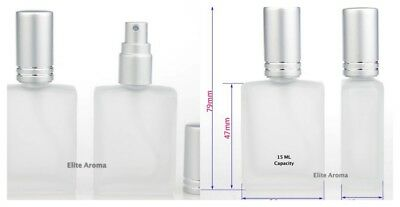 Frosted Glass 15ml Travel Size Bottle Empty Refillable Perfume Spray Atomizer