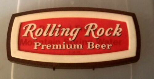 VINTAGE ROLLING ROCK BEER MOTION ADVERTISING SIGN LABROBE PA