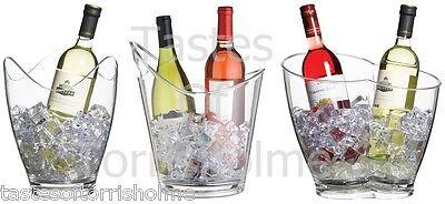 买便宜的bar craft clear acrylic party wine bottle cooler drinks pail ice bucket