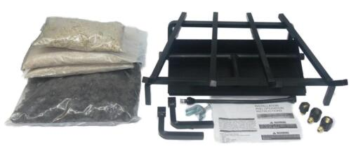 """18"""" 24"""" Complete Fireplace Insert Gas Burner Hearth Kit NG or LP"""