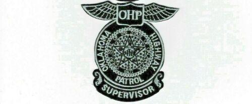 OKLAHOMA HIGHWAY Patrol SUPERVISOR patch  - silver/black