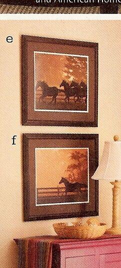 Longaberger Art Heading for the Sun Print Horses Running Wall Decor NEW IN BOX