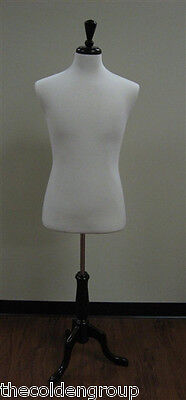 Planet Racks Male Pinnable Jersey Covered Form - White - Walnut Base