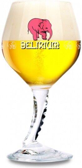 Delirium Tremens Belgian Beer Glass - The ORIGINAL AUTHENTIC Pink Elephant Beer