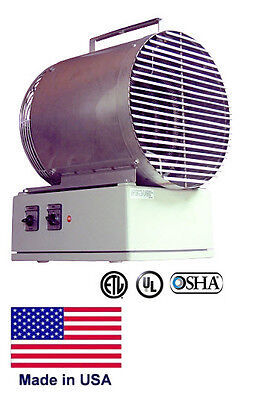PORTABLE ELECTRIC HEATER Coml/Ind - Fan Forced - Washdown - 5000W - 208V - 1 Ph