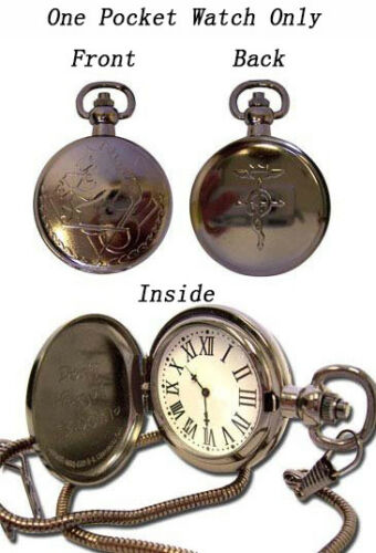 **Legit** Fullmetal Alchemist State Alchemist Metal Cosplay Pocket Watch #7705