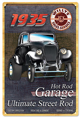 Route 66 Hot Rod Pin Up Girl Sign Garage Shop Art1 4×18