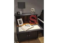Wonderful WRITING desk/bureau hand painted in Graphite.