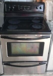 """Frigidaire 30"""" electric stainless steel glass top stove range"""