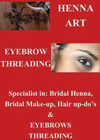 Great Deal!! Eyebrows Threading & Henna Tattoo $5 Down town HFX