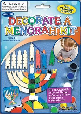 2 of Chanukah Hannukah Menorah Jewish Toy Holiday Kids Gift Set Wood Wooden  ()