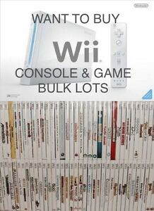 WANTED: Wii console and game bulk lots Mount Hutton Lake Macquarie Area Preview